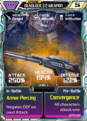 Deadlock 1 Weapon