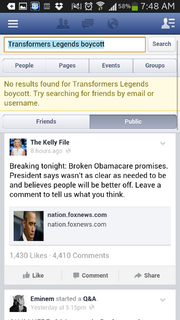Screenshot by 11165765 - Facebook - Boycott Information Removed or Hidden