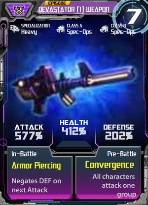 Devastator 1 Weapon