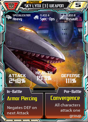 Sky Lynx 3 Weapon