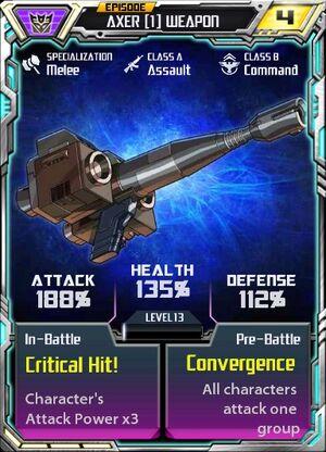 Axer 1 Weapon