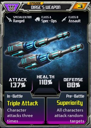 Dirge 1 Weapon