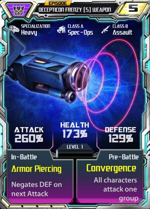 Decepticon Frenzy 5 Weapon