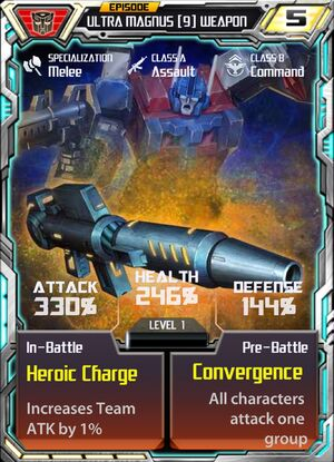 Ultra Magnus 9 Weapon