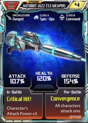 Autobot Jazz 5 Weapon