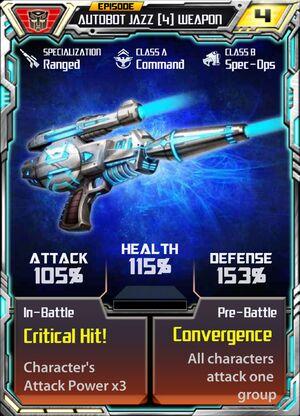 Autobot Jazz 4 Weapon