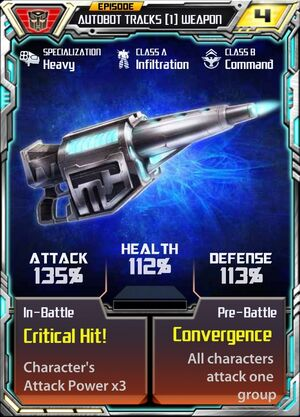 Autobot Tracks 1 Weapon