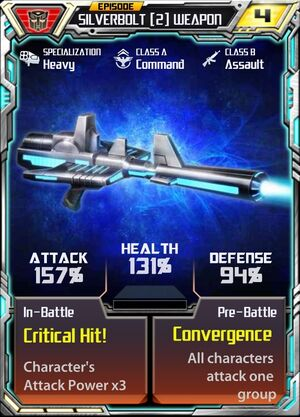 Silverbolt (2) Weapon