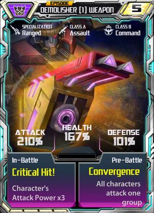 Demolisher 1 Weapon