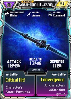 Banzai-Tron 1 Weapon