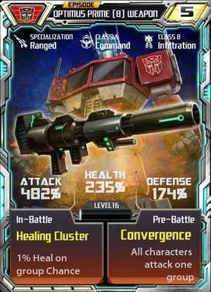 Optimus Prime 8 Weapon
