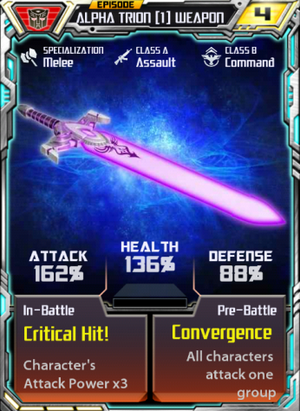 Alpha Trion 1 Weapon