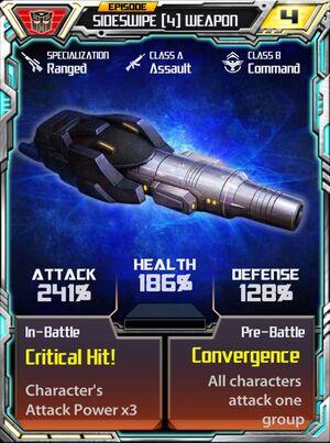 Sideswipe 4 Weapon