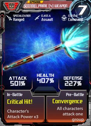 Sentinel Prime 4 Weapon