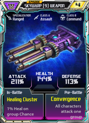 Skywarp 9 Weapon