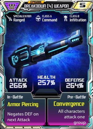 Breakdown 4 Weapon