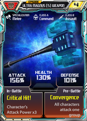 Ultra Magnus 5 Weapon