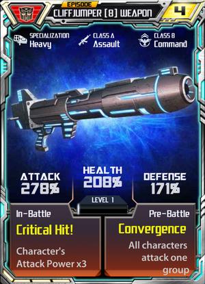 Cliffjumper 8 Weapon