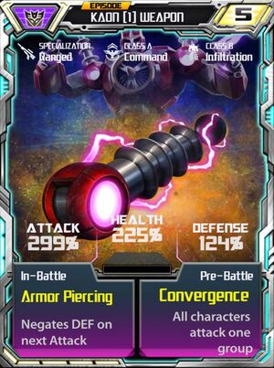 Kaon 1 Weapon