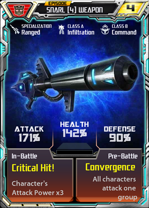 Snarl 4 Weapon