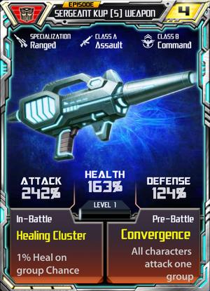 Sergeant Kup 5 Weapon