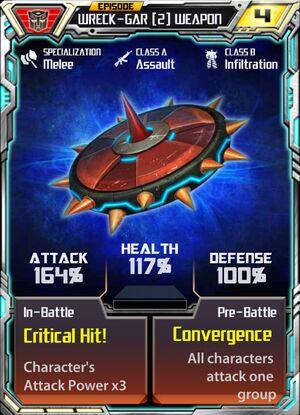 Wreck-Gar 2 Weapon