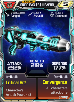 Orion Pax 5 Weapon