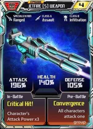 Jetfire (5) Weapon