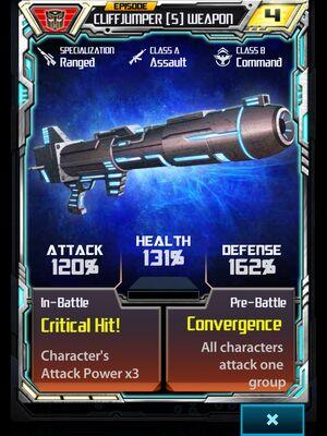 Cliffjumper 5 Weapon