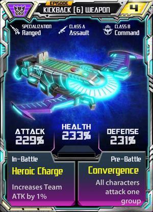 Kickback 6 Weapon
