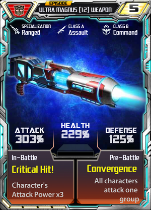 Ultra Magnus 12 Weapon