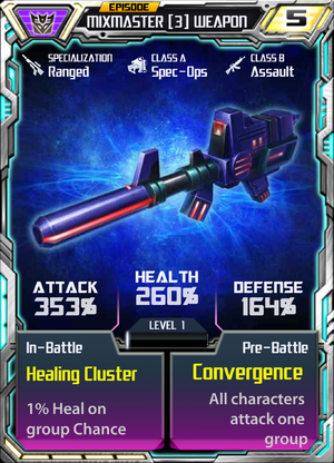 Mixmaster 3 Weapon