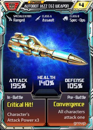 Autobot Jazz 6 Weapon