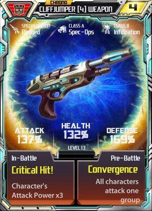 Cliffjumper 4 Weapon