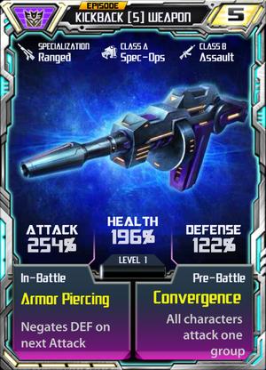 Kickback 5 Weapon