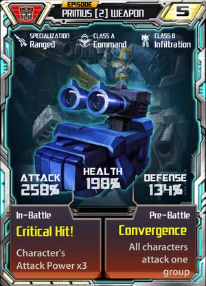 Primus 2 Weapon