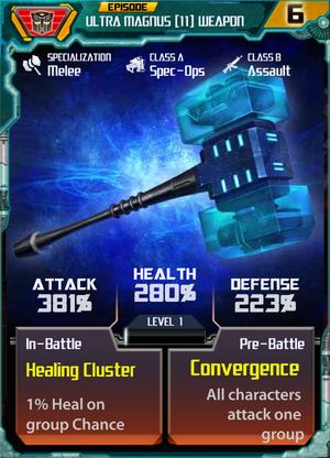 Ultra Magnus 11 Weapon