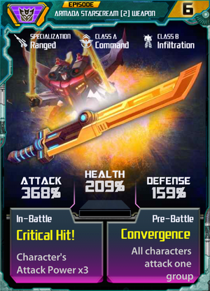 Armada Starscream 2 Weapon