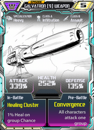 Galvatron 9 Weapon
