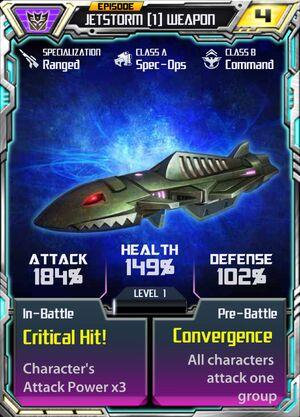 Jetstorm 1 Weapon