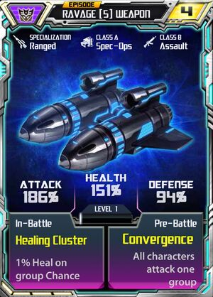 Ravage 5 Weapon