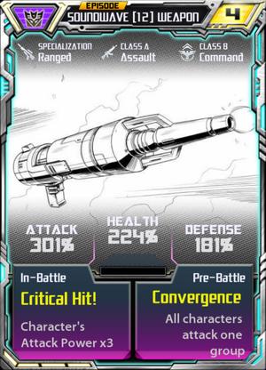 Soundwave 12 Weapon