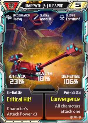 Warpath 4 Weapon