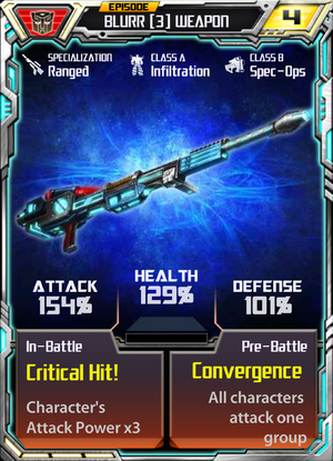 Blurr 3 Weapon
