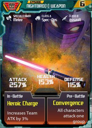 Nightbird 1 Weapon