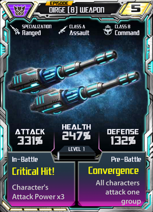 Dirge 8 Weapon