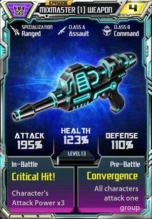 Mixmaster 1 Weapon