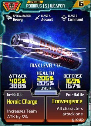 Rodimus 5 Weapon