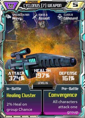 Cyclonus 7 Weapon