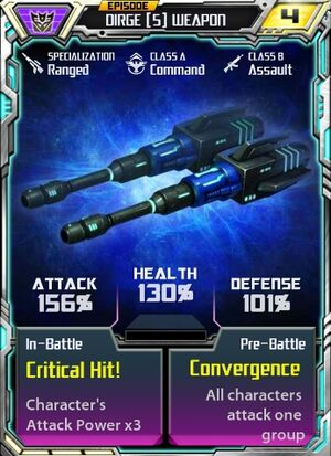 Dirge 5 Weapon